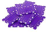 Tuoservo Rectangle Ceramic Poker Chips For Mahjong & Texas Poker Casino Chips 10pcs (Purple)