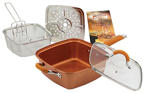 "Inventel SP-MC02 Square Copper Pan Pro, 9 1/2"""