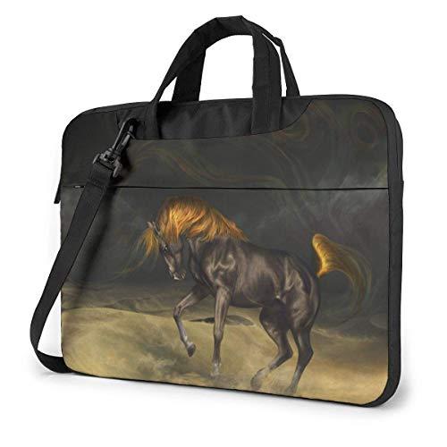Laptop Case Computer Bag Sleeve Cover Desert Wild Horse Waterproof Shoulder Briefcase