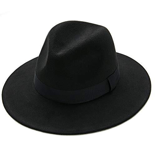 1920's Gangster Hat Fedora Hats Roaring 20s Costume Men Women (A2-Black)