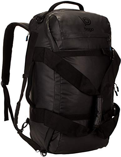 bago Carry on Traveling Backpack Duffle Bag - 3 Way Duffel Backpack for Travel & Sports - Waterproof Heavy Duty Gear Bag for Men & Women (Black)