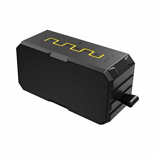 MFFACAI Outdoor Bluetooth-Lautsprecher wasserdicht und staubdicht tragbaren wiederaufladbaren Schatz Bluetooth Audio wasserdichte Lautsprecher, Yellow