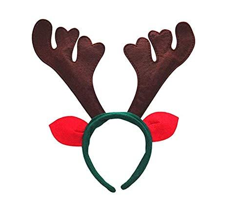 DearMentor rendier gewei hoofdband 1 stuk Kerstmis hert met klokken oren versierd party kostuum nieuw accessoire volwassenen