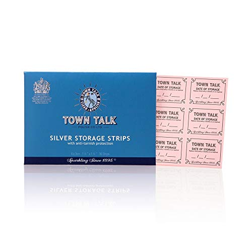 Town Talk mit Anlaufschutz Silber Aufbewahrung Streifen Register–Pack von 36Streifen: 4cm x 3cm