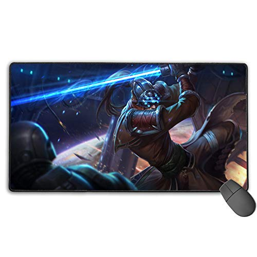Alfombrilla de ratón impermeable para League Legends Masteryi Chosen, alfombrilla de teclado de ordenador para ordenador portátil de 40 cm x 90 cm