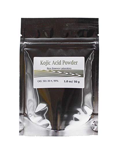 Kojic Acid Powder, Pure 99.5%, 50g, natural pigment inhibitor