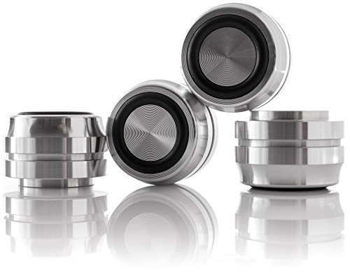 Hifi Lab Aluminium Füße massiv 33x22 Alu Geräte-Füße hoch Audio Absorber edel 4X