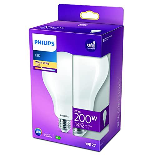 Philips LED Classic Bombilla, 200 W, Estándar A95 E27, Mate, Luz Blanca Cálida, No Regulable