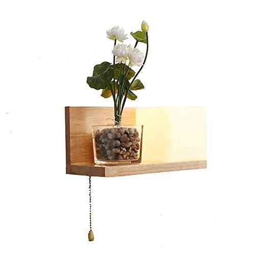 Nordic wandlamp van massief hout in Japanse stijl, hal, woonkamer, slaapkamer, wandplank, wandlamp, wandlamp - design