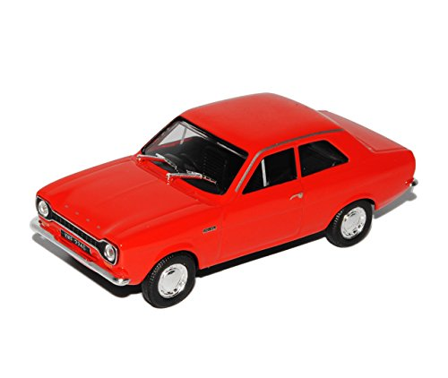 Cararama Ford Escort Mk1 Coupe 3 TÜrer Rot 1968-1975 1/43 Modell Auto