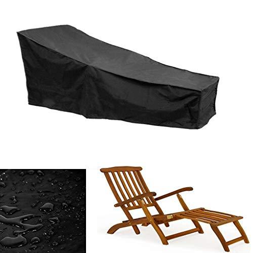 Strandkorb Handtuch Lounge Chair Cover, Anti-Ultraviolett Wärmeableitung Garten Sonnenliege Handtuch Stuhl Strandtuch Saumschnur, Abdeckung Für Gartenliegen Und Relaxliegen (Schwarz)
