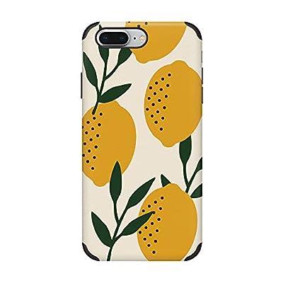 CUSTYPE iPhone 7 Plus Case, iPhone 8 Plus Case, Print Lemon Pattern Case Soft Slim TPU Protective Case for iPhone 7 Plus/8 Plus 5.5 inch Yellow Lemon