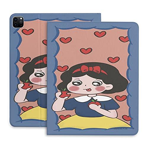 Funda para iPad 2020 Pro, Apple Heart Snow White Funda protectora de piel, Smart Tablet Cases 12.9 pulgadas