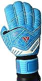 Vizari Replica F.P. Guantes de portero de fútbol con soporte para dedos para niños y adultos (7, azul, negro y blanco)