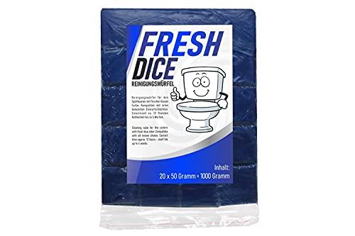 Lot de 20 tablettes de chasse d'eau pour WC Bleu Tab Cube