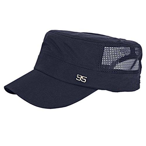 Casquette de Baskball Homme Chapeau de Soleil Respirant Plat Chapeau de Plage Visière Anti-UV Taille Réglable Sun Hat Séchage Rapidement Chapeau de Sport/ Golf/ Cyclisme/ Camping Printemps Été