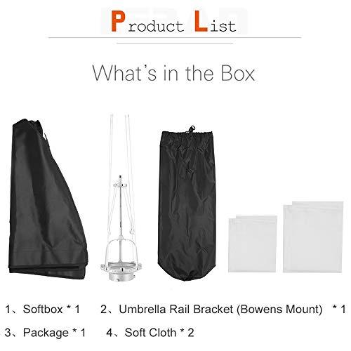 QWERTOUY SB-UE 60 X 90cm 24 X 35in Draagbare Rechthoekige Paraplu Softbox Bowens Mount voor Studio Flash Speedlite