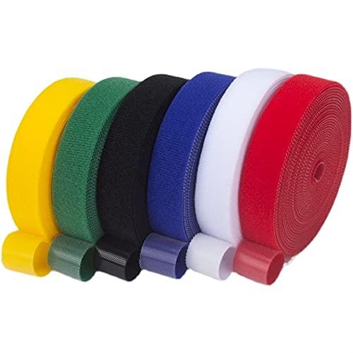 LJGFH Ribbon 1 par Multicolor VELCROS Auto Adhesivo Cinta de Sujetador Velcros...