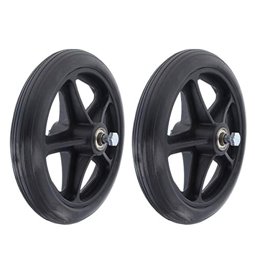 7 Inch Solid Wheel Replacement for Wheelchairs, Rollators, Walkers, 2 Pack