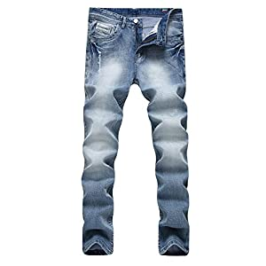 Men's Classic Slim Fit Skinny Stretchy Five-Pockets Denim Outfit Jeans