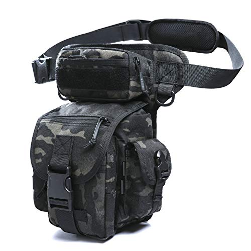 ANTARCTICA Multifunctional Drop Leg Bag Tactical Military Thigh Hip for Motorcycling Hiking Traveling Fishing (Camouflage)