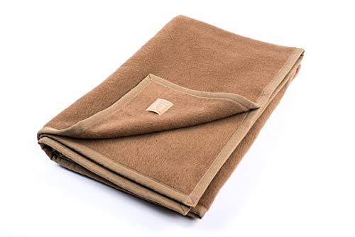 """Ritter Decken Kamelhaardecke """"Maharadscha 150 x 200 cm Kamel (ungefärbt) aus 100% Kamelhaar (Natur) weich. Wolldecke aus eigener Herstellung. Geeignet als Wohndecke, Kuscheldecke und Tagesdecke"""