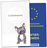 EU-Heimtierausweis Hülle Haustiere Tierausweis Schutzhülle tolle Geschenkidee (Lennox, EU-Heimtierausweishülle ohne Personalisierung)