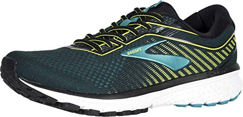 Brooks Ghost 12, Scarpe da Corsa Uomo, Black Lime Blue Grass 161D, 44.5 EU