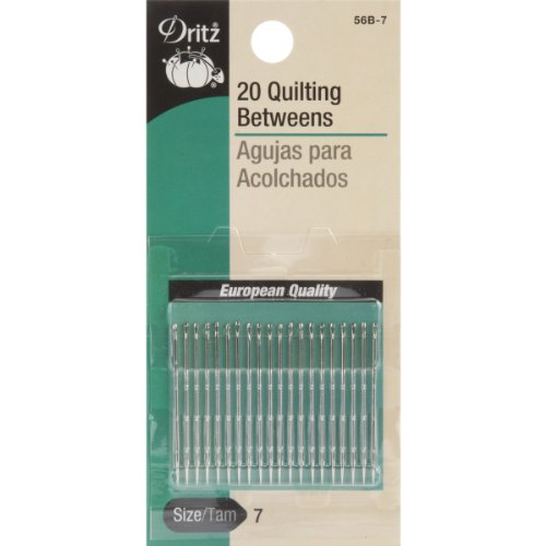 Dritz 56B-7 Quilting Betweens Hand Needles, Size 7 (20-Count)