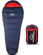 MOUNTREX® slaapzak - klein verpakkingsformaat & ultralicht (720g) | Outdoor zomer slaapzak - mummieslaapzak (205x75cm) | Compact, warm en licht | voor kamperen, reizen of festival - koppelbaar