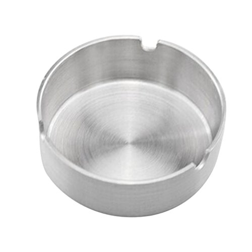 MagiDeal Ashtray Stainless Steel Unbreakable,Cigarette Ashtray for Collecting Butts,Tabletop Ash Holder,Cigarette Ash Tray for Smokers