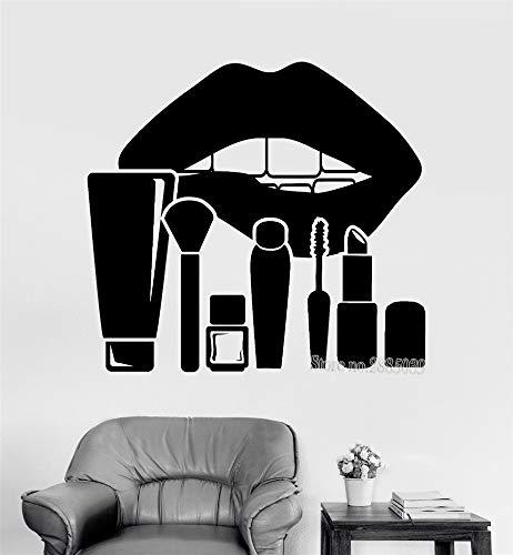 Lèvres et maquillage cosmétiques salon de beauté autocollants décor de chambre des femmes affiche