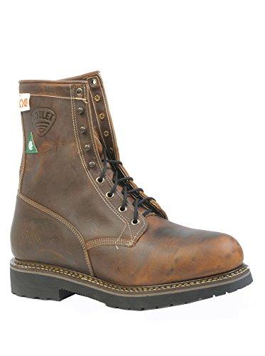 Amerikanische Schuhe - Arbeitsschuhe BO-5171-E (normalen Fuß) - Mann - Leder - braun - 13