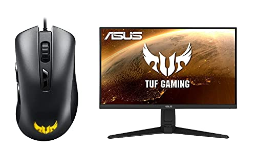 ASUS TUF Gaming M3 - Ratón Gaming ergonómico con conexión por Cable + Asus TUF VG27WQ - Monitor Curvo Gaming de 27