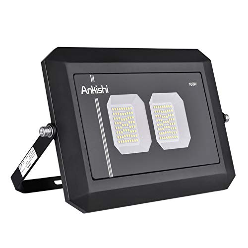 Foco LED exterior de 200 W, 6000 K, muy brillante, 20.000 lm, foco exterior IP66, resistente al agua, luz blanca fría para jardín, garaje, campo deportivo [clase energética A+]