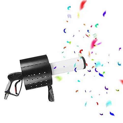 Almondle Konfetti-Maschine mit Buntem LED-Lichteffekt Handheld CO2-Konfetti-Kanonenmaschine Professioneller Konfetti-Werfer für Party, Konzert, Theater, Hochzeit, Bühne