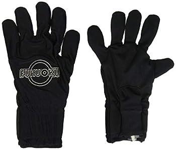 Fukuoku 910R-LG/910L-LG Right and Left Handed Five Finger Vibrating Massage Glove Kit Black Large