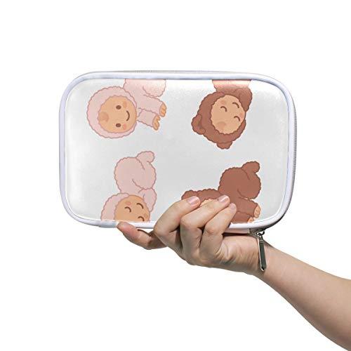 Estuche de lápices de colores Cute Little Baby Cartoon Kid Large Beauty Bag Bolsas de regalo de belleza para mujeres Maquillaje multifuncional Bolsa de cosméticos para hombres Mujeres
