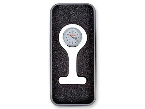 Gima Silicone Clock for Nurses, Round, Withe, with Aluminium Box