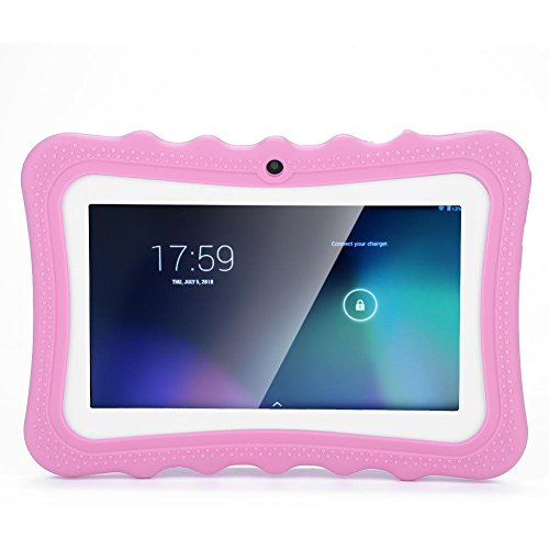 Sutinna Tablet per Bambini da 7 Pollici, Touch Screen per Bambini Tablet PC Protezione per Gli Occhi Tablet WiFi per l apprendimento per Bambini Tablet HD per l educazione precoce per Bambini (Rosa)