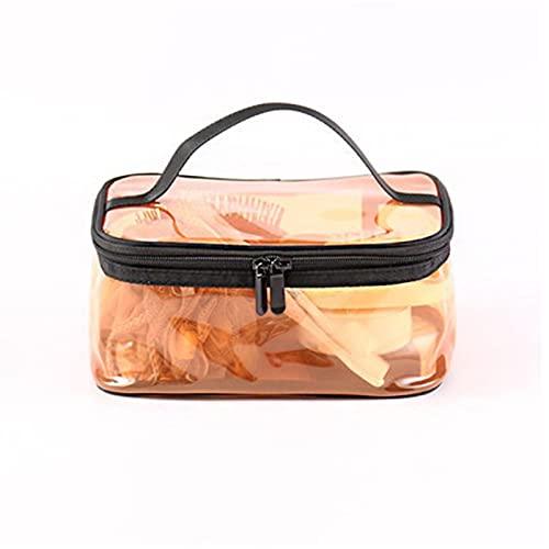 xzmnxzzme Bolsa de Maquillaje de PVC Transparente portátil Estuche de cosméticos con Cremallera Impermeable Organizador de artículos de tocador Organizador de Bolsas de artículos de tocador