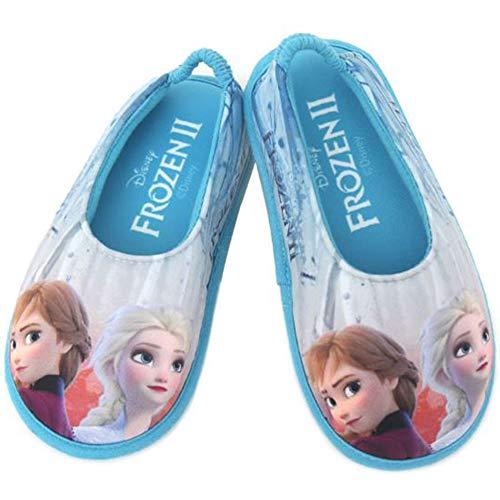 [ディズニー] アナと雪の女王2 Frozen 2 エルサ アナ 女の子 子供用 室内履き キッズ スリッパ ルームシューズ (19.0 cm, シルバーグレー) [並行輸入品]
