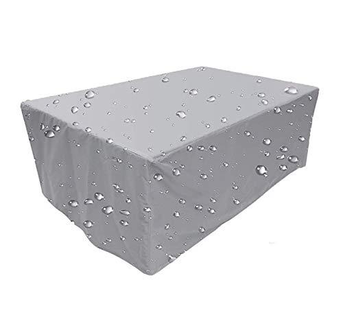 Abdeckung für Gartenmöbel,Alle Größen,Abdeckhaube für Gartenmöbel und für rechteckige Sitzgarnituren,Regenschutz und Staubfest, Anti-UV, Schwerlast 300D -Oxford Gewebe,130x120x85cm-Silber grau