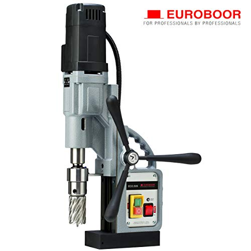 Learn More About EUROBOOR Magnetic Drill Press - 1250W / 11.4A Portable Drilling Machine with 2 Ann...
