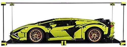 Caja de visualización de acrílico de bloque de construcción, caja de visualización a prueba de polvo para LEGO 42115 Técnica Lamborghini Sián FKP 37 (caja de visualización solo incluida, sin kit de le