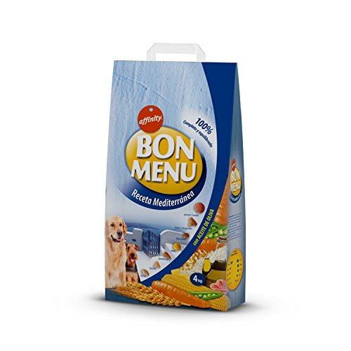 affinity Bon Menu - Receta Mediterránea - Alimento Completo para Perros Adultos - 4 Kg