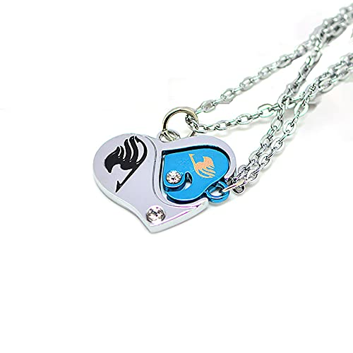 Amantes del Anime, para Fairy Tail, Collar Personalizado, Colgante con El Logotipo del Gremio, Colgante De CorazóN De Los Amantes, PeriféRicos De AnimacióN, Coleccionables