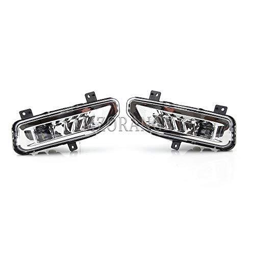 Clidr Fog Lights for Nissan Versa ALMERA 2020 2021 Driving Lights Lamps with Bezel Bracket Set Left Right Side