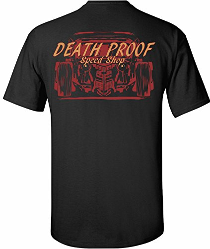 Death Proof Industries Speed Shop T-Shirt Tee (Large, Black)