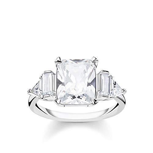 Thomas Sabo Damen-Ring Weiße Steine 925 Sterlingsilber TR2262-051-14-56